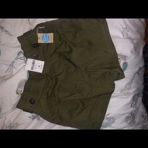 cute olive green high rise shorts from Forever 21